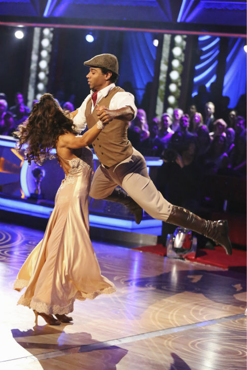 "<div class=""meta image-caption""><div class=""origin-logo origin-image ""><span></span></div><span class=""caption-text"">Corbin Bleu and Karina Smirnoff dance their 'Judges' Pick' Quickstep on week 11 of 'Dancing With The Stars' on Nov. 25, 2013. They received 27 out of 30 points from the judges. The two scored a total of 62 out of 65 points for the night. (ABC Photo / Adam Taylor)</span></div>"