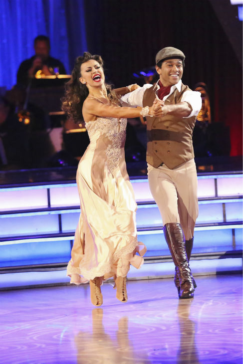 Corbin Bleu and Karina Smirnoff dance their &#39;Judges&#39; Pick&#39; Quickstep on week 11 of &#39;Dancing With The Stars&#39; on Nov. 25, 2013. They received 27 out of 30 points from the judges. The two scored a total of 62 out of 65 points for the night. <span class=meta>(ABC Photo &#47; Adam Taylor)</span>