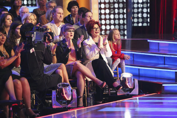 &#39;Dancing With The Stars&#39; contestant Jack Osbourne&#39;s mother, Sharon Osbourne, and sister, Kelly Osbourne, cheer him on as he competes in the &#39;Dancing With The Stars&#39; season 17 finals on Nov. 25, 2013 with partner Cheryl Burke. <span class=meta>(ABC Photo &#47; Adam Taylor)</span>