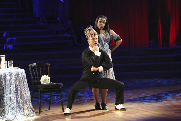 "<div class=""meta ""><span class=""caption-text "">Amber Riley and Derek Hough dance their 'Judges' Pick' Charleston on week 11 of 'Dancing With The Stars' on Nov. 25, 2013. They received 30 out of 30 points from the judges. The two scored a total of 64 out of 65 points for the night. (ABC Photo / Adam Taylor)</span></div>"