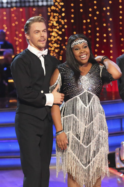"<div class=""meta image-caption""><div class=""origin-logo origin-image ""><span></span></div><span class=""caption-text"">Amber Riley and Derek Hough danced their 'Judges' Pick' Charleston on week 11 of 'Dancing With The Stars' on Nov. 25, 2013. They received 30 out of 30 points from the judges. The two scored a total of 64 out of 65 points for the night. (ABC Photo / Adam Taylor)</span></div>"