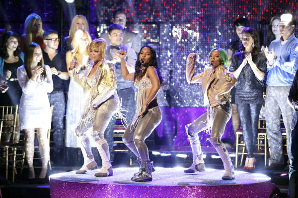 "<div class=""meta ""><span class=""caption-text "">TLC accompanied the Samba relay week 11 of 'Dancing With The Stars' on Nov. 25, 2013, and performed their hit 'No Scrubs.' (ABC Photo / Adam Taylor)</span></div>"