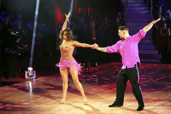 "<div class=""meta image-caption""><div class=""origin-logo origin-image ""><span></span></div><span class=""caption-text"">Jack Osbourne and Cheryl Burke dance in the Samba relay on week 11 of 'Dancing With The Stars' on Nov. 25, 2013. They received 3 out of 5 points from the judges. The two scored a total of 57 out of 65 points for the night. (ABC Photo / Adam Taylor)</span></div>"