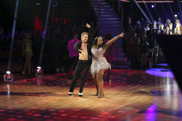 Amber Riley and Derek Hough dance in the Samba relay on week 11 of &#39;Dancing With The Stars&#39; on Nov. 25, 2013. They received 4 out of 5 points from the judges. The two scored a total of 64 out of 65 points for the night. <span class=meta>(ABC Photo &#47; Adam Taylor)</span>