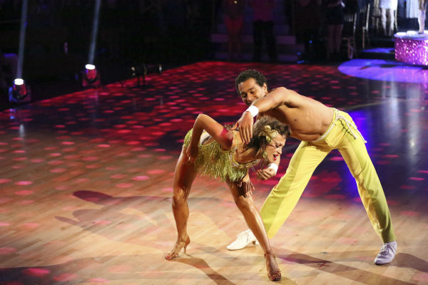 "<div class=""meta ""><span class=""caption-text "">Corbin Bleu and Karina Smirnoff dance in the Samba relay on week 11 of 'Dancing With The Stars' on Nov. 25, 2013. They received 5 out of 5 points from the judges. The two scored a total of 62 out of 65 points for the night. (ABC Photo / Adam Taylor)</span></div>"
