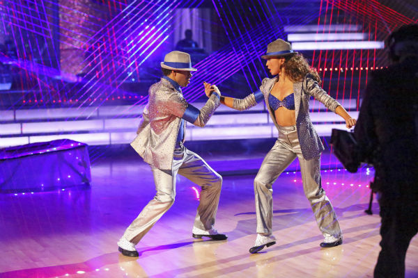 Corbin Bleu and Karina Smirnoff dance their Freestyle on week 11 of 'Dancing With The Stars' on Nov. 25, 2013. They received 30 out of 30 points from the judges.