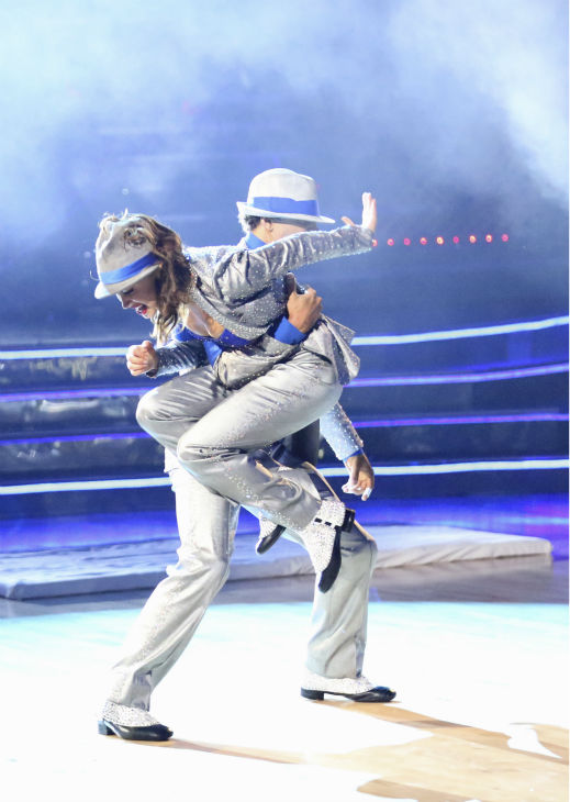 "<div class=""meta image-caption""><div class=""origin-logo origin-image ""><span></span></div><span class=""caption-text"">Corbin Bleu and Karina Smirnoff dance their Freestyle on week 11 of 'Dancing With The Stars' on Nov. 25, 2013. They received 30 out of 30 points from the judges. The two scored a total of 62 out of 65 points for the night. (ABC Photo / Adam Taylor)</span></div>"