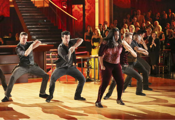 "<div class=""meta ""><span class=""caption-text "">Amber Riley and Derek Hough dance their Freestyle on week 11 of 'Dancing With The Stars' on Nov. 25, 2013. They received 30 out of 30 points from the judges. The two scored a total of 64 out of 65 points for the night. (ABC Photo / Adam Taylor)</span></div>"