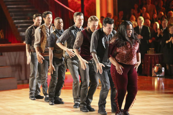 "<div class=""meta image-caption""><div class=""origin-logo origin-image ""><span></span></div><span class=""caption-text"">Amber Riley and Derek Hough dance their Freestyle on week 11 of 'Dancing With The Stars' on Nov. 25, 2013. They received 30 out of 30 points from the judges. The two scored a total of 64 out of 65 points for the night. (ABC Photo / Adam Taylor)</span></div>"