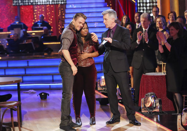 Amber Riley and Derek Hough danced their Freestyle on week 11 of &#39;Dancing With The Stars&#39; on Nov. 25, 2013. They received 30 out of 30 points from the judges. The two scored a total of 64 out of 65 points for the night. <span class=meta>(ABC Photo &#47; Adam Taylor)</span>