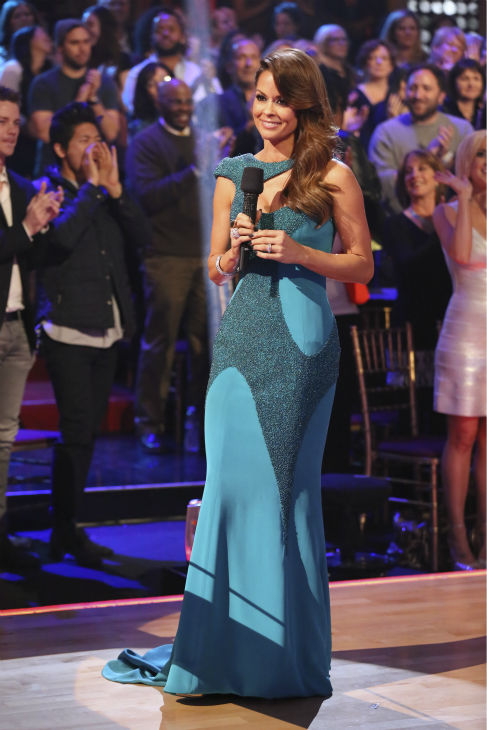 Co-host Brooke Burke-Charvet appears on 'Dancing With The Stars' season 17 week 11, the pre-finale, on Nov. 25, 2013.