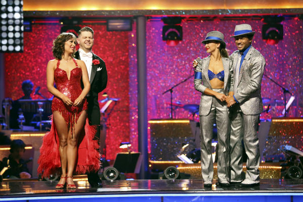 "<div class=""meta ""><span class=""caption-text "">Jack Osbourne and Cheryl Burke and Corbin Bleu await their fate on 'Dancing With The Stars' week 11 on Nov. 25, 2013. (ABC Photo / Adam Taylor)</span></div>"