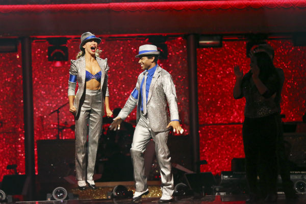 "<div class=""meta image-caption""><div class=""origin-logo origin-image ""><span></span></div><span class=""caption-text"">Corbin Bleu and Karina Smirnoff await their fate on week 11 of 'Dancing With The Stars' on Nov. 25, 2013. The two scored a total of 62 out of 65 points for the night. (ABC Photo / Adam Taylor)</span></div>"