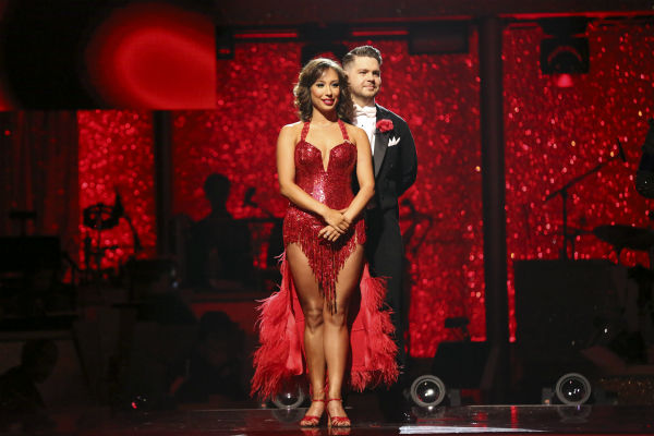 Jack Osbourne and Cheryl Burke await their fate on week 11 of &#39;Dancing With The Stars&#39; on Nov. 25, 2013. The two scored a total of 57 out of 65 points for the night. <span class=meta>(ABC Photo &#47; Adam Taylor)</span>