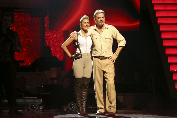"<div class=""meta ""><span class=""caption-text "">Bill Engvall and Emma Slater await their fate on week 11 of 'Dancing With The Stars' on Nov. 25, 2013. The two scored a total of 51 out of 65 points for the night. (ABC Photo / Adam Taylor)</span></div>"