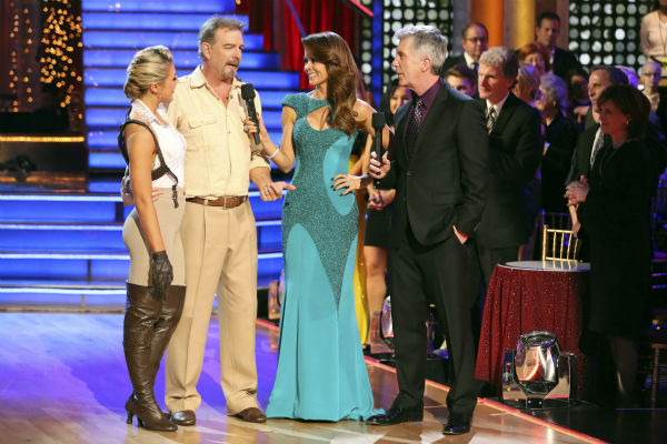 Bill Engvall and Emma Slater react to being eliminated on week 11 of &#39;Dancing With The Stars&#39; on Nov. 25, 2013. The two scored a total of 51 out of 65 points for the night. <span class=meta>(ABC Photo&#47; Adam Taylor)</span>