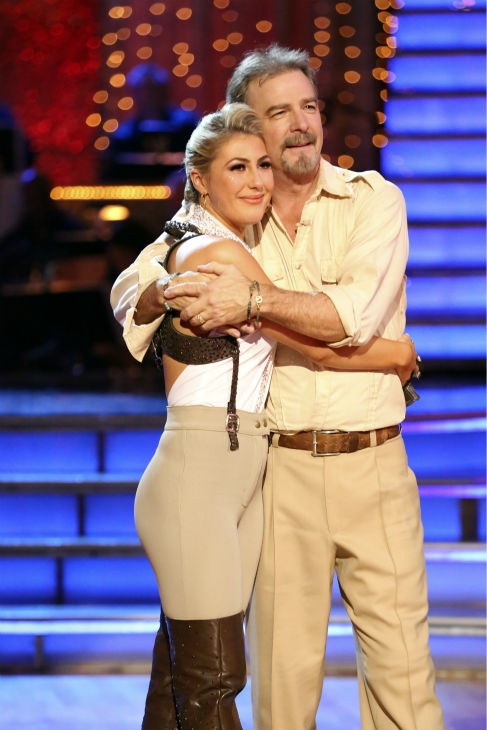 Bill Engvall and Emma Slater react to being eliminated on week 11 of 'Dancing With The Stars' on Nov. 25, 2013. The two scored a total of 51 out of 65 points for the night.