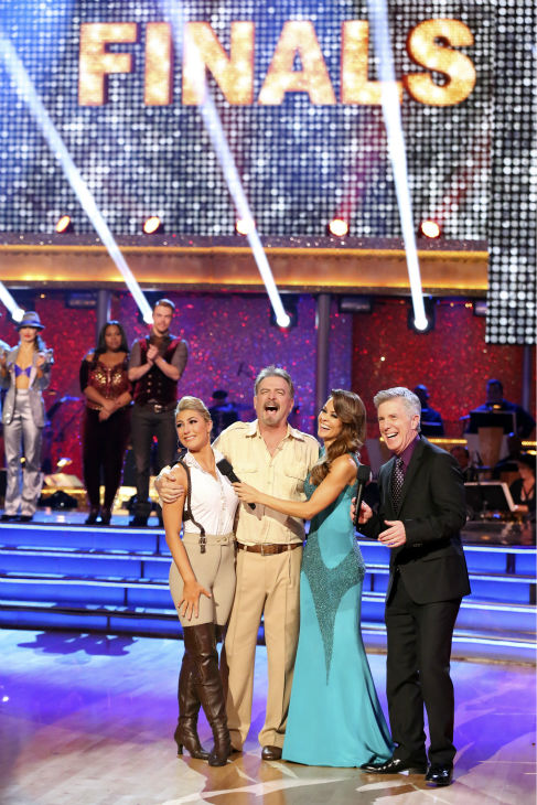 "<div class=""meta ""><span class=""caption-text "">Bill Engvall and Emma Slater react to being eliminated on week 11 of 'Dancing With The Stars' on Nov. 25, 2013. The two scored a total of 51 out of 65 points for the night. (ABC Photo / Adam Taylor)</span></div>"