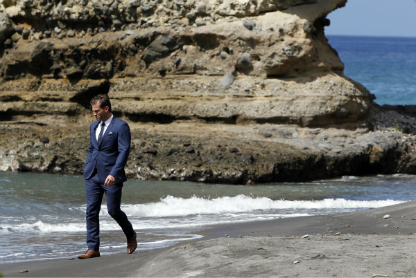 A scene from the season 18 finale of ABC&#39;s &#39;The Bachelor,&#39; which aired on March 10, 2014. Juan Pablo Galavis walks along the coast of St. Lucia and ponders 1. How he really likes making out with both Clare and Nikki. 2. How long he has to ponder about things on the beach until he can take off his suit. 3. How he ended up on &#39;The Bachelor.&#39; <span class=meta>(ABC Photo &#47; Rick Rowell)</span>