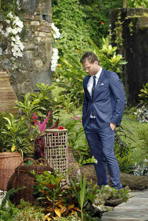 "<div class=""meta ""><span class=""caption-text "">A scene from the season 18 finale of ABC's 'The Bachelor,' which aired on March 10, 2014. Juan Pablo Galavis waits on a podium for Clare, one of two remaining finalists, who earlier said she wants to have babies with him and is definitely expecting a proposal. (ABC Photo / Rick Rowell)</span></div>"
