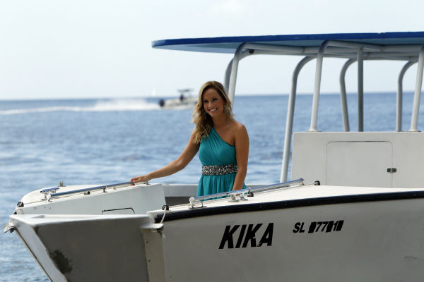 Clare, one of two remaining finalists, appears on a boat in a scene from the season 18 finale of ABC&#39;s &#39;The Bachelor,&#39; which aired on March 10, 2014. She is making her way to Juan Pablo Galavis, expecting a proposal. <span class=meta>(ABC Photo &#47; Rick Rowell)</span>