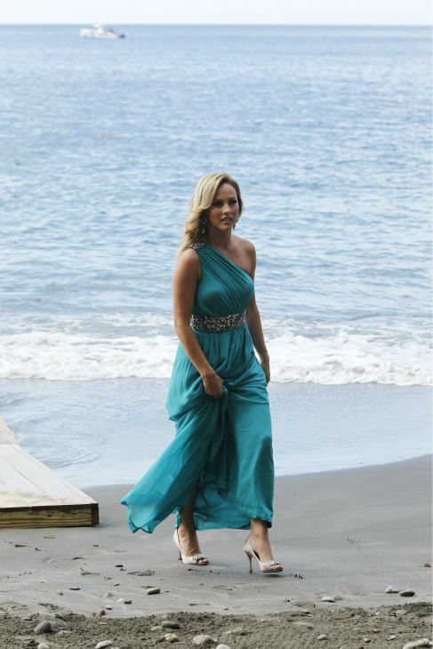 Clare, one of two remaining finalists, appears on a beach in St. Lucia in a scene from the season 18 finale of ABC&#39;s &#39;The Bachelor,&#39; which aired on March 10, 2014. She is making her way to Juan Pablo Galavis, expecting a proposal. <span class=meta>(ABC Photo &#47; Rick Rowell)</span>