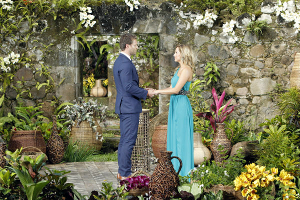 "<div class=""meta ""><span class=""caption-text "">Clare, one of two remaining finalists, looks into the eyes of star Juan Pablo Galavis in St. Lucia in a scene from the season 18 finale of ABC's 'The Bachelor,' which aired on March 10, 2014. He has just rejected her on national television.  (ABC Photo / Rick Rowell)</span></div>"