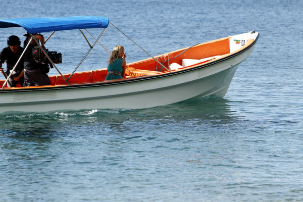 Clare exits on a boat after Juan Pablo Galavis rejected her, in a scene from the season 18 finale of ABC&#39;s &#39;The Bachelor,&#39; which aired on March 10, 2014. <span class=meta>(ABC Photo &#47; Rick Rowell)</span>