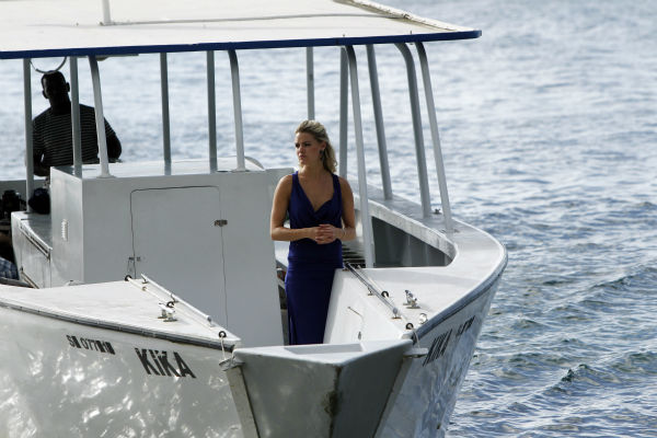 Nikki, the last remaining finalist, appears on a boat in a scene from the season 18 finale of ABC&#39;s &#39;The Bachelor,&#39; which aired on March 10, 2014. She is making her way to Juan Pablo Galavis, expecting a proposal. <span class=meta>(ABC Photo &#47; Rick Rowell)</span>