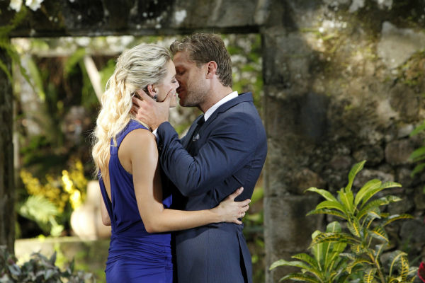 "<div class=""meta image-caption""><div class=""origin-logo origin-image ""><span></span></div><span class=""caption-text"">Star Juan Pablo Galavis kisses Nikki, the winner and his non-fiancee, in St. Lucia in a scene from the season 18 finale of ABC's 'The Bachelor,' which aired on March 10, 2014. (ABC Photo / Rick Rowell)</span></div>"