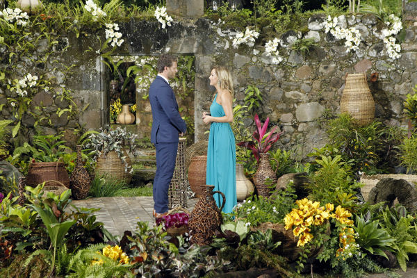 Clare, one of two remaining finalists, looks into the eyes of star Juan Pablo Galavis in St. Lucia in a scene from the season 18 finale of ABC&#39;s &#39;The Bachelor,&#39; which aired on March 10, 2014. She is expecting a proposal. <span class=meta>(ABC Photo &#47; Rick Rowell)</span>