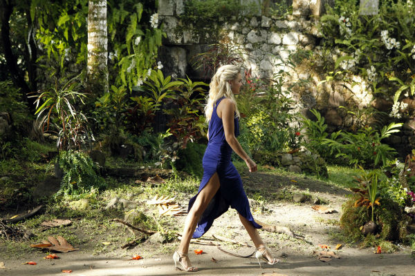 "<div class=""meta ""><span class=""caption-text "">Nikki, the last remaining finalist, walks in St. Lucia in a scene from the season 18 finale of ABC's 'The Bachelor,' which aired on March 10, 2014. She is making her way to Juan Pablo Galavis, expecting a proposal. (ABC Photo / Rick Rowell)</span></div>"