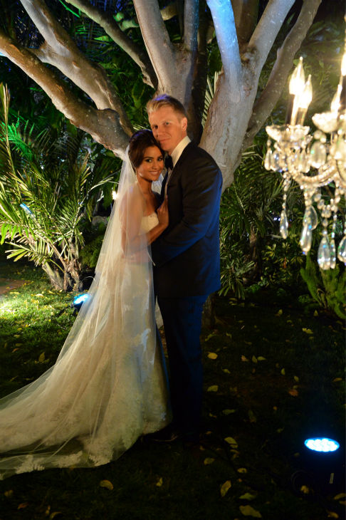&#39;The Bachelor&#39; season 17 star Sean Lowe and Catherine Giudici appear at their wedding at the Four Seasons Biltmore hotel in Santa Barbara, California, live on TV as part of ABC&#39;s &#39;The Bachelor: Sean and Catherine&#39;s Wedding&#39; special on Jan. 26, 2014. <span class=meta>(ABC Photo &#47; Todd Wawrychuk)</span>