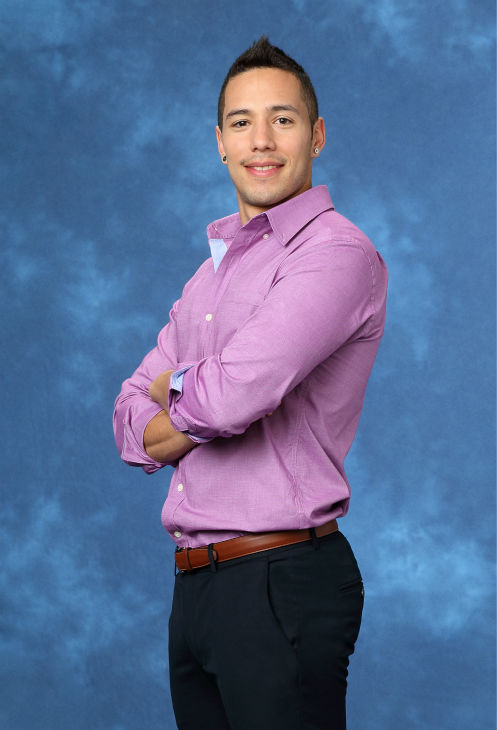 "<div class=""meta ""><span class=""caption-text "">Tasos, 30, a wedding event coordinator from Denver, Colorado, is seen in a publicity photo for 'The Bachelorette' season 10. (ABC Photo / Craig Sjodin)</span></div>"