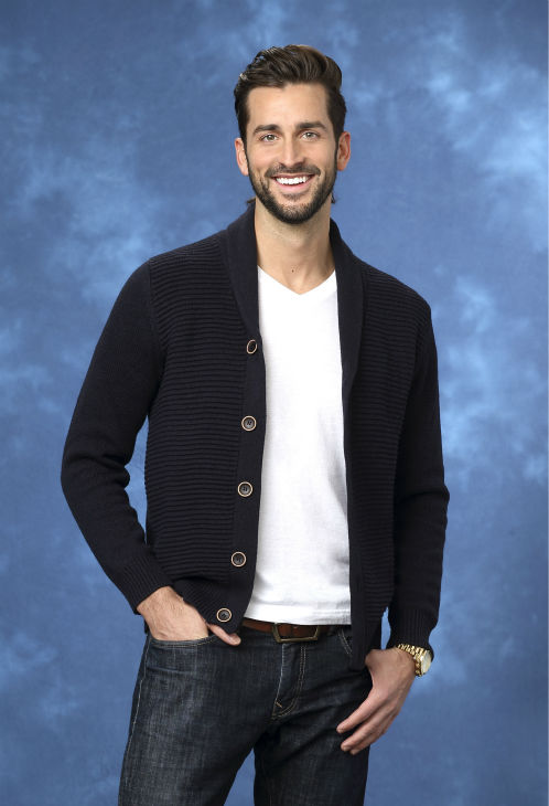 "<div class=""meta ""><span class=""caption-text "">Brett, 29, a hairstylist from Westminster, Pennsylvania, is seen in a publicity photo for 'The Bachelorette' season 10. (ABC Photo / Craig Sjodin)</span></div>"