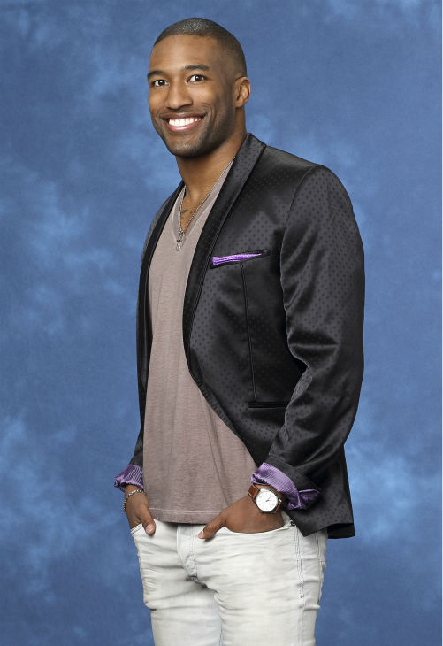 "<div class=""meta ""><span class=""caption-text "">Marquel, 26, a sponsorship salesman from Las Vegas, Nevada, is seen in a publicity photo for 'The Bachelorette' season 10. (ABC Photo / Craig Sjodin)</span></div>"