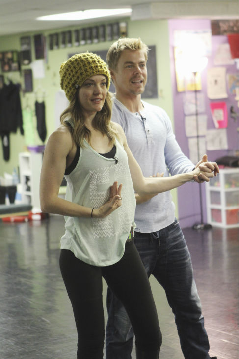 &#39;Dancing With The Stars&#39; celebrity contestant Amy Purdy appears with partner Derek Hough at a reheasal before the season 18 premiere of the ABC show on March 17, 2014. Purdy is a double amputee and snowboarding champion who is the first Paralympian to compete on &#39;DWTS.&#39; <span class=meta>(ABC Photo &#47; Adam Larkey)</span>
