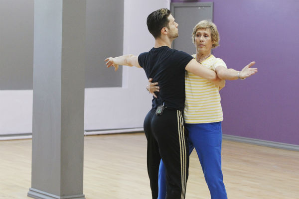&#39;Dancing With The Stars&#39; celebrity contestant Diana Nyad appears with partner Henry Byalikov at a reheasal before the season 18 premiere of the ABC show on March 17, 2014. Nyad made headlines in September 2013 when she became the first person to swim 110 miles from Cuba to Key West, Florida after trying four times unsuccessfully. <span class=meta>(ABC Photo &#47; Rick Rowell)</span>
