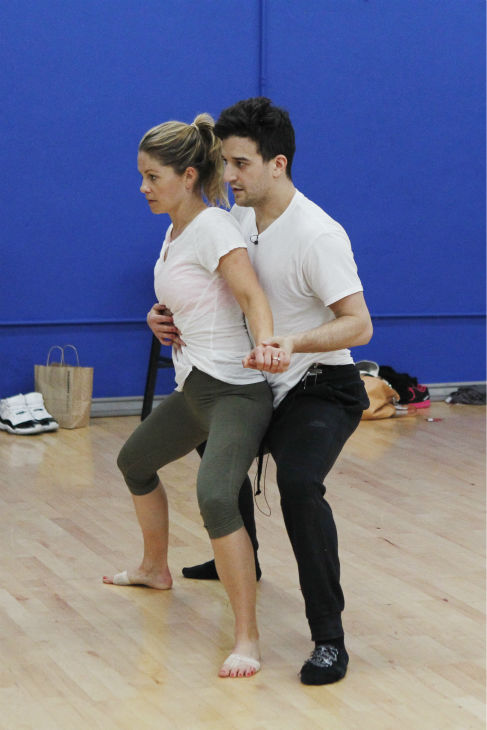 &#39;Dancing With The Stars&#39; celebrity contestant and &#39;Full House&#39; alum Candace Cameron Bure &#40;she played DJ Tanner&#41; appears with partner Mark Ballas at a reheasal before the season 18 premiere of the ABC show on March 17, 2014. <span class=meta>(ABC Photo &#47; Rick Rowell)</span>