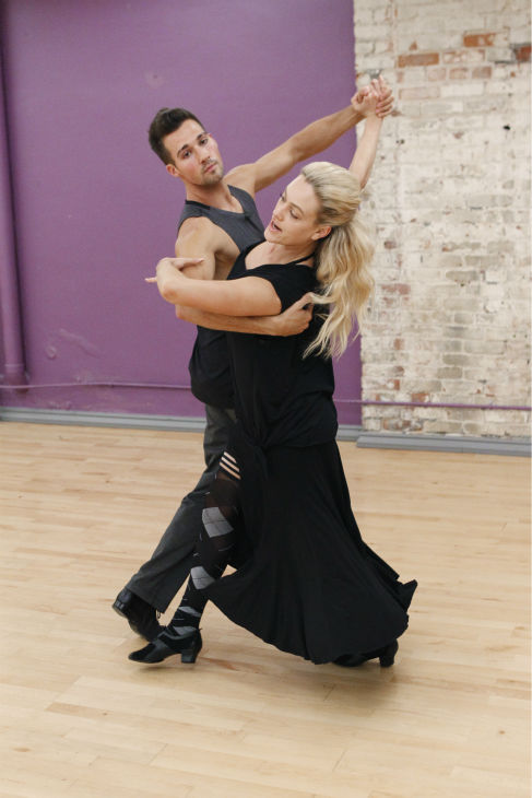&#39;Dancing With The Stars&#39; celebrity contestant and &#39;Big Time Rush&#39; star James Maslow appears with partner Peta Murgatryod at a reheasal before the season 18 premiere of the ABC show on March 17, 2014. <span class=meta>(ABC Photo &#47; Rick Rowell)</span>