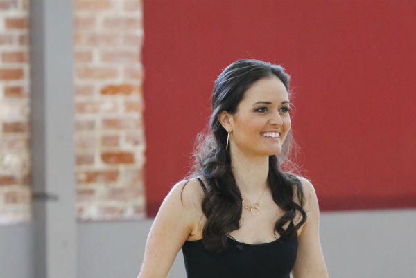 &#39;Dancing With The Stars&#39; celebrity contestant Danica McKellar of &#39;The Wonder Years&#39; &#40;she played Winnie Cooper&#41; appears at a reheasal before the season 18 premiere of the ABC show on March 17, 2014. Her partner is Val Chmerkovskiy. <span class=meta>(ABC Photo &#47; Rick Rowell)</span>
