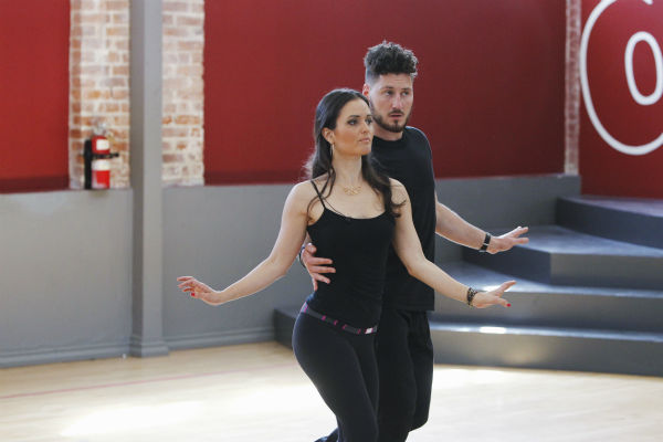 &#39;Dancing With The Stars&#39; celebrity contestant Danica McKellar of &#39;The Wonder Years&#39; &#40;she played Winnie Cooper&#41; appears with partner Val Chmerkovskiy at a reheasal before the season 18 premiere of the ABC show on March 17, 2014. <span class=meta>(ABC Photo &#47; Rick Rowell)</span>