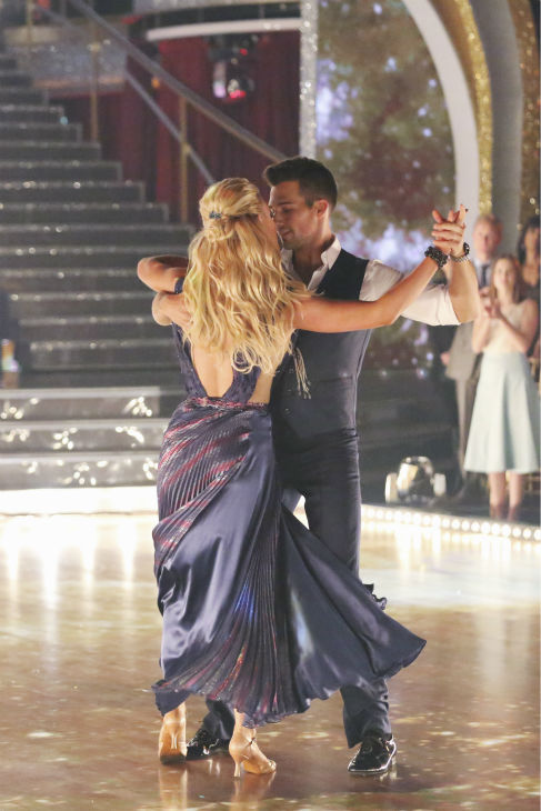 "<div class=""meta image-caption""><div class=""origin-logo origin-image ""><span></span></div><span class=""caption-text"">James Maslow and Peta Murgatroyd dance the Foxtrot on week 1 of ABC's 'Dancing With The Stars' on March 17, 2014. They received 21 out of 30 points from the judges. (ABC Photo / Adam Taylor)</span></div>"