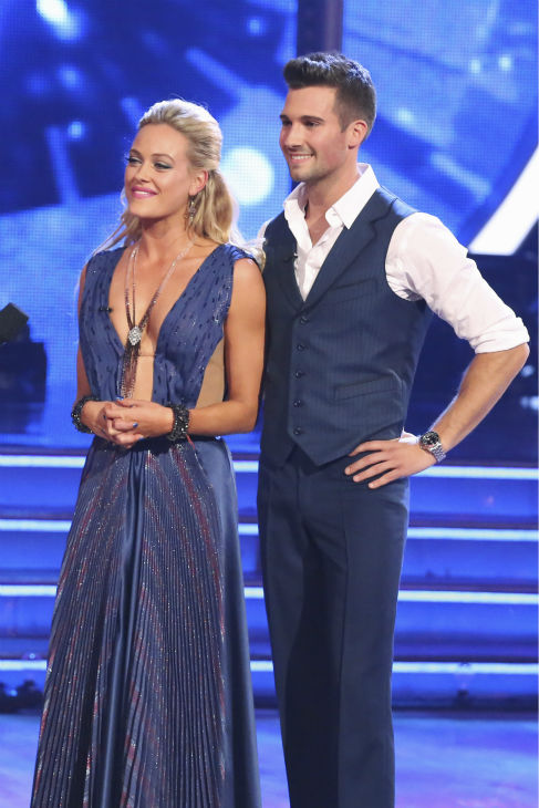 "<div class=""meta image-caption""><div class=""origin-logo origin-image ""><span></span></div><span class=""caption-text"">James Maslow and Peta Murgatroyd danced the Foxtrot on week 1 of ABC's 'Dancing With The Stars' on March 17, 2014. They received 21 out of 30 points from the judges. (ABC Photo / Adam Taylor)</span></div>"