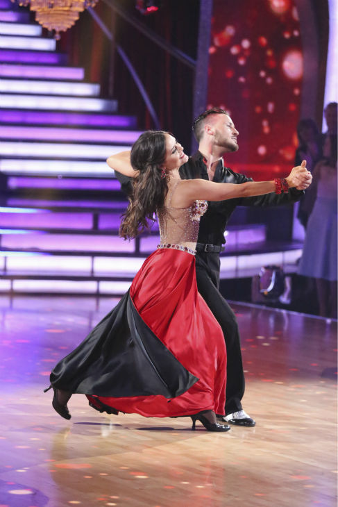 Danica McKellar of &#39;The Wonder Years&#39; fame and Val Chmerkovskiy dance the Foxtrot on week 1 of ABC&#39;s &#39;Dancing With The Stars&#39; on March 17, 2014. They received 24 out of 30 points from the judges. <span class=meta>(ABC Photo &#47; Adam Taylor)</span>