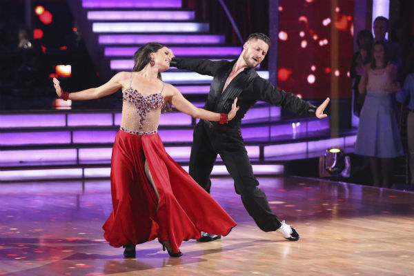 "<div class=""meta ""><span class=""caption-text "">Danica McKellar of 'The Wonder Years' fame and Val Chmerkovskiy dance the Foxtrot on week 1 of ABC's 'Dancing With The Stars' on March 17, 2014. They received 24 out of 30 points from the judges. (ABC Photo / Adam Taylor)</span></div>"