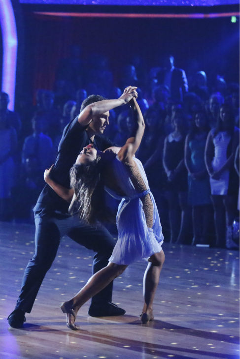 "<div class=""meta ""><span class=""caption-text "">Sean Avery and Karina Smirnoff perform a Contemporary routine on week 1 of ABC's 'Dancing With The Stars' on March 17, 2014. They received 20 out of 30 points from the judges. (ABC Photo / Adam Taylor)</span></div>"