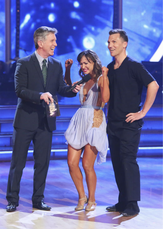 "<div class=""meta ""><span class=""caption-text "">Sean Avery and Karina Smirnoff performed a Contemporary routine on week 1 of ABC's 'Dancing With The Stars' on March 17, 2014. They received 20 out of 30 points from the judges. (ABC Photo / Adam Taylor)</span></div>"