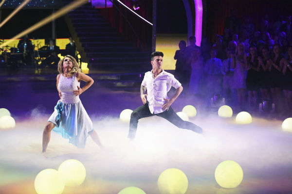 Candace Cameron Bure of &#39;Full House&#39; fame and Mark Ballas perform a Contemporary routine on week 1 of ABC&#39;s &#39;Dancing With The Stars&#39; on March 17, 2014. They received 25 out of 30 points from the judges. <span class=meta>(ABC Photo &#47; Adam Taylor)</span>