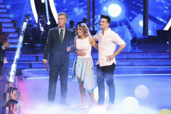 Candace Cameron Bure of &#39;Full House&#39; fame and Mark Ballas performed a Contemporary routine on week 1 of ABC&#39;s &#39;Dancing With The Stars&#39; on March 17, 2014. They received 25 out of 30 points from the judges. <span class=meta>(ABC Photo &#47; Adam Taylor)</span>